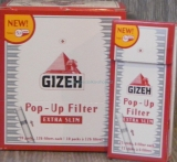 Cigaretové filtry Gizeh Extra Slim POP-UP 5,3mm