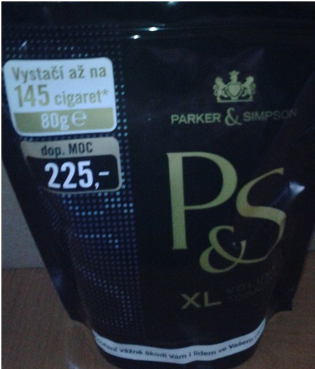 Cigaretový tabák P&S 110g black