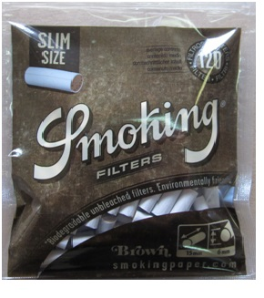 Cigaretové filtry Smoking Slim Size Brown 6mm